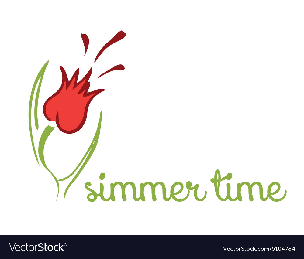 Spring or summer background vector image