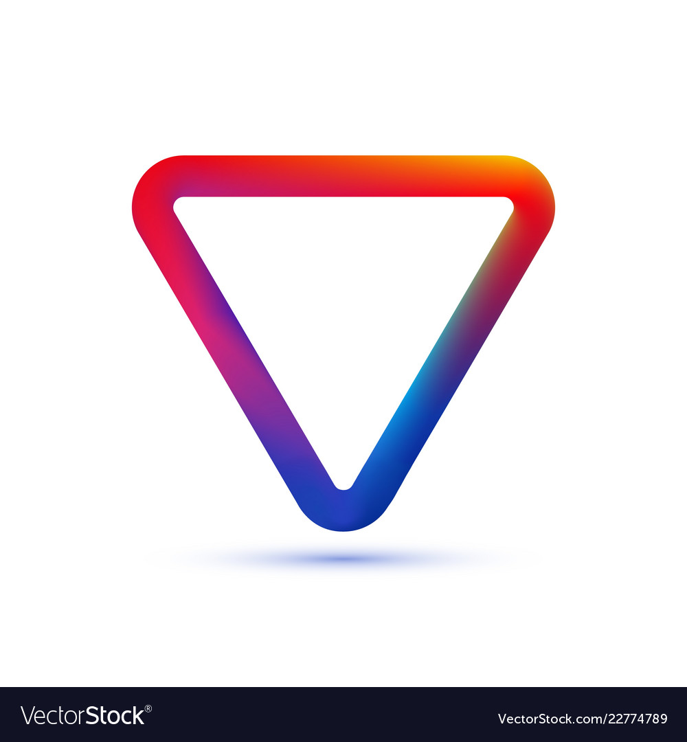 Abstact color triangle frame template