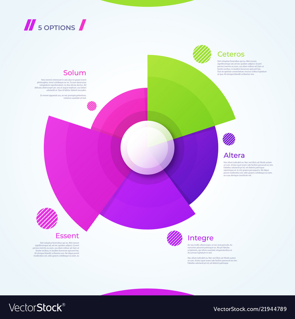 Circle chart design template for creating