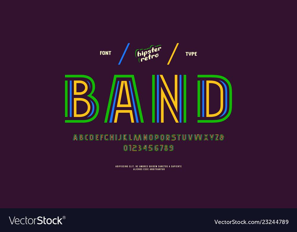 Decorative striped sans serif font