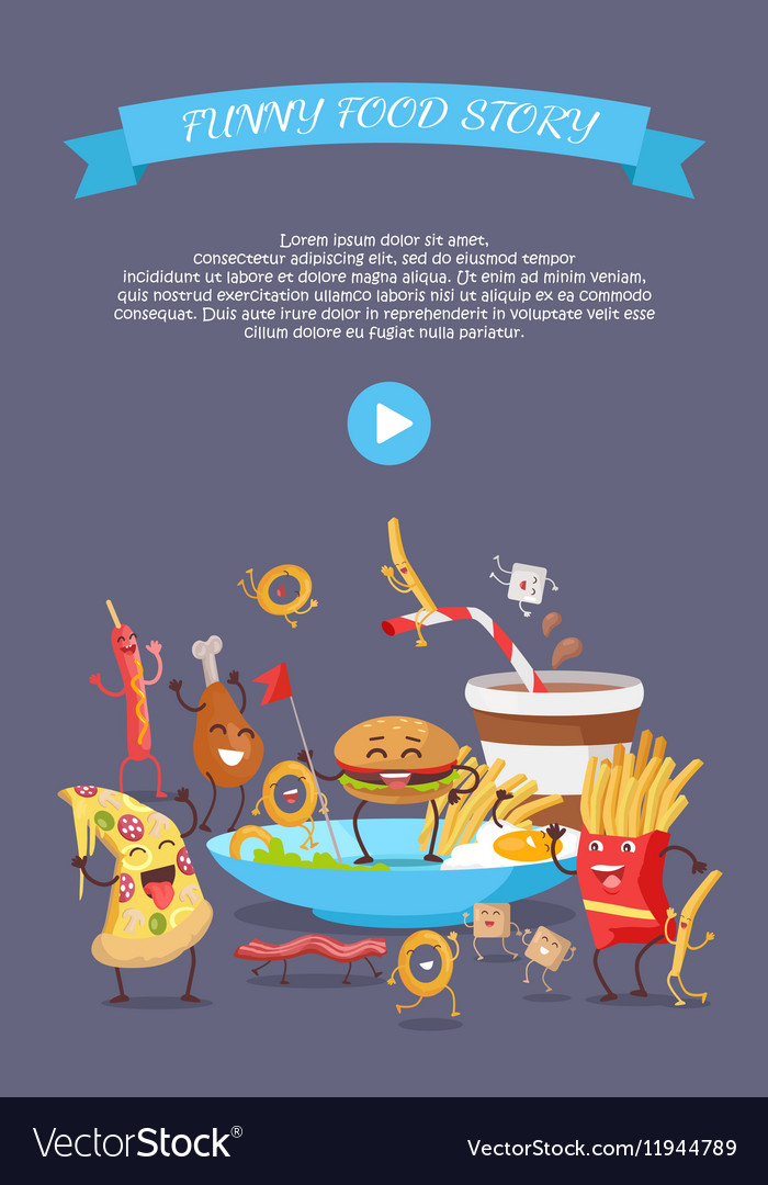 Fast Food Conceptual Flat Style Web Banner