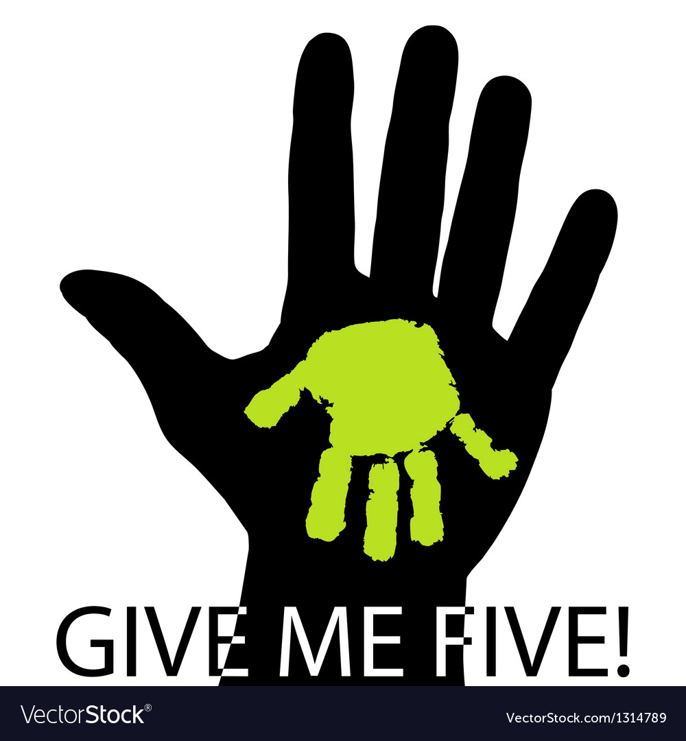 Give me five Royalty Free Vect...