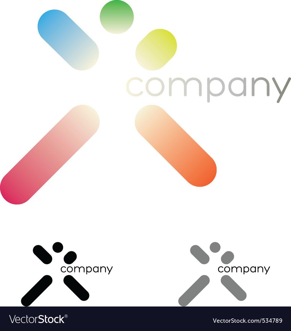 Jumping man logo vector image