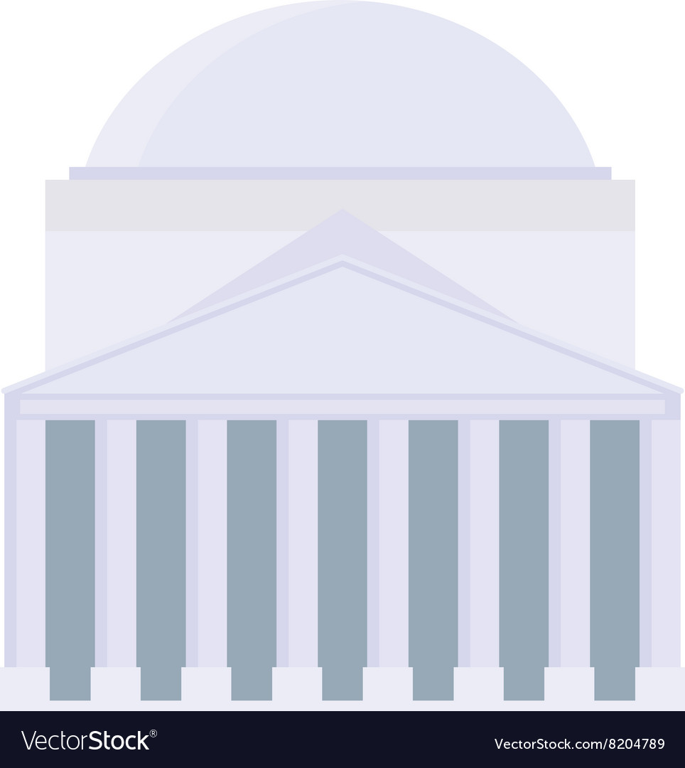 Pontifical House architecture stone building vector image