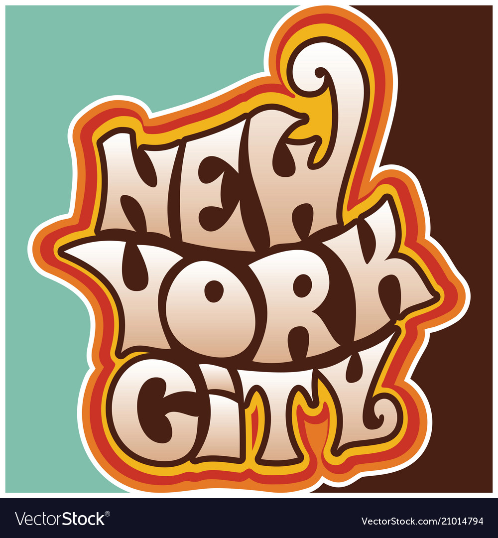 60s 70s new york city funky lettering