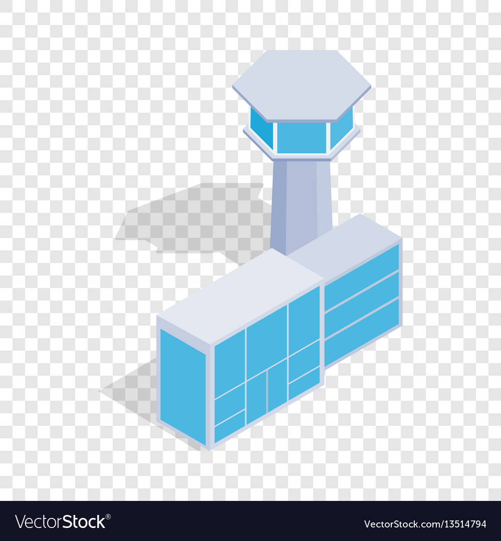 Airport building isometric icon