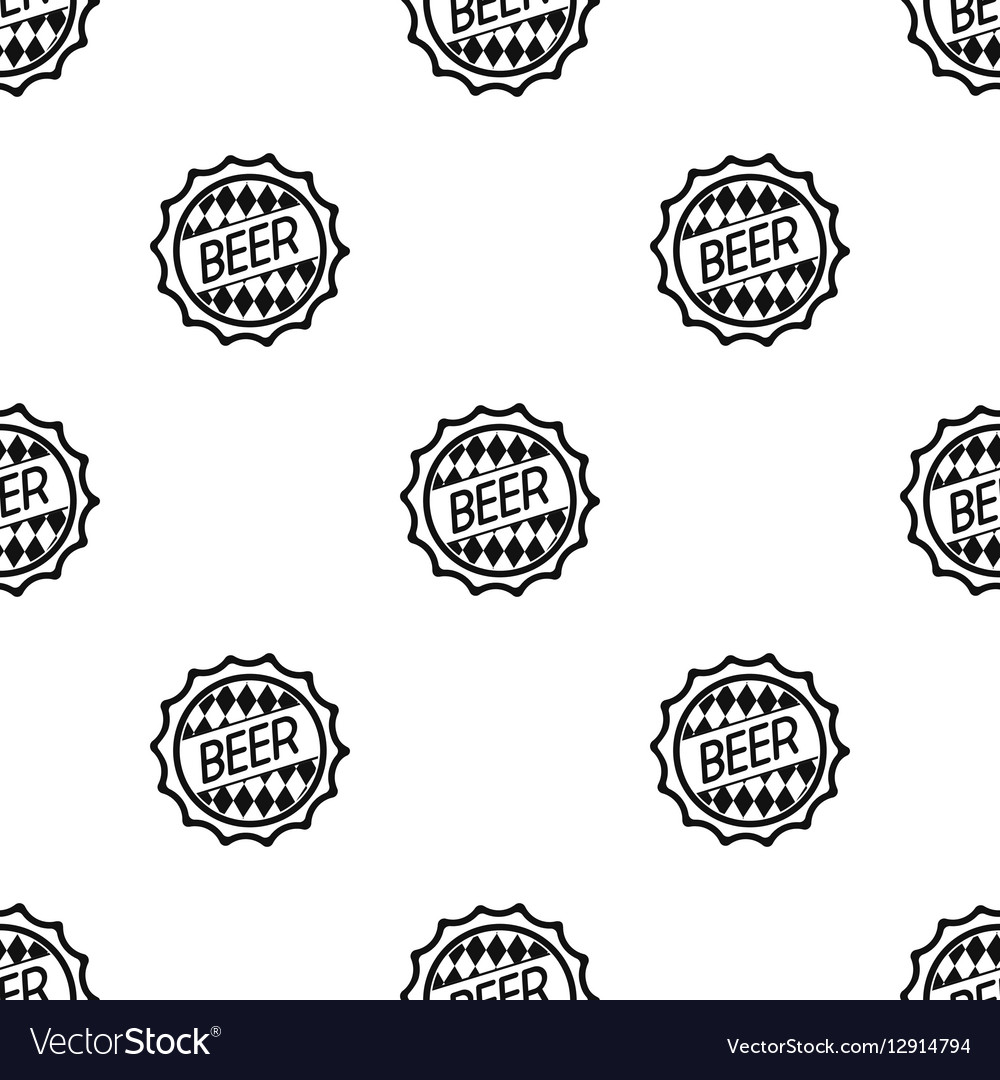 Bottle cap icon in black style isolated on white