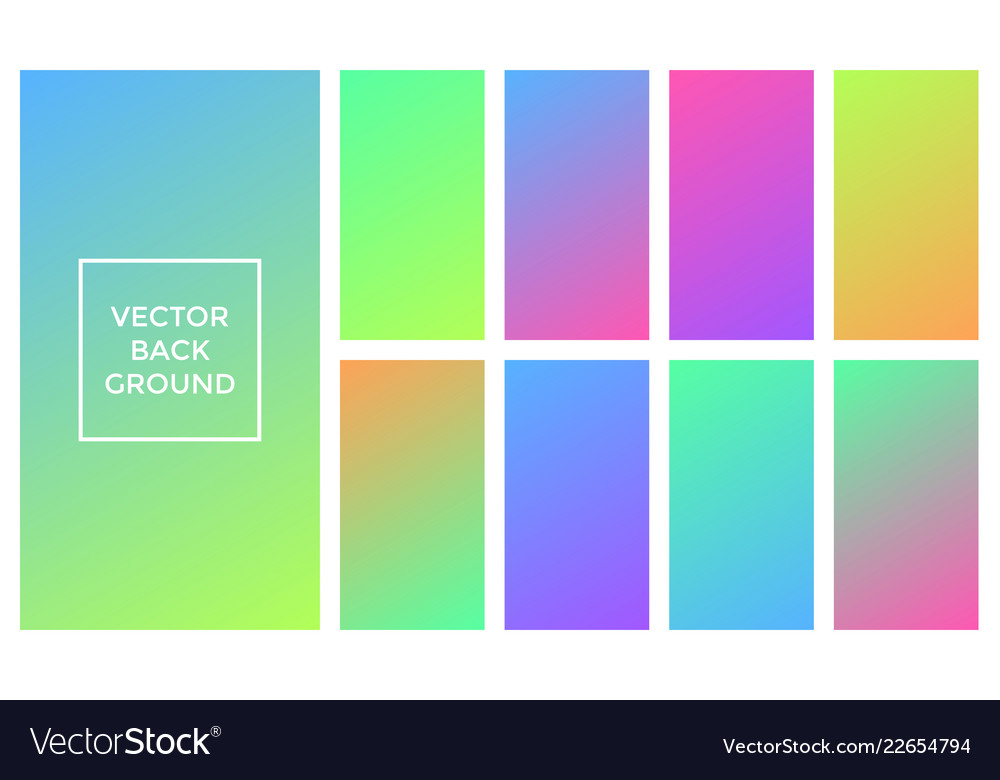 colors gradient backgrounds set royalty free vector image