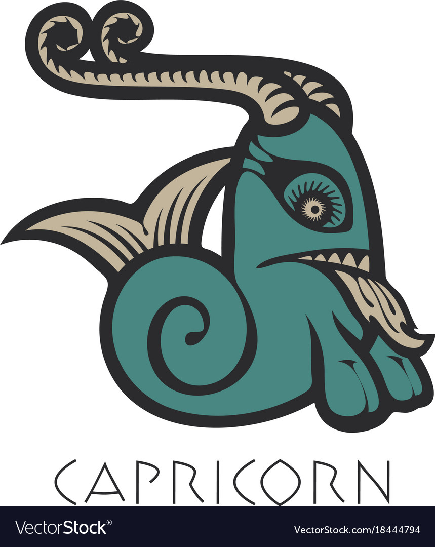 Image of capricorn astrological sign of zodiac