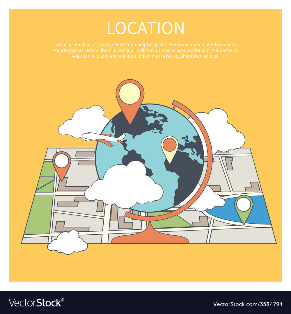 Location concept World map infographic