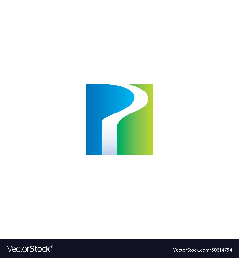 P letter 3d logo design