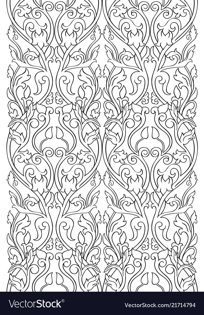 Pattern With Flowers For Wallpaper Royalty Free Vector Image