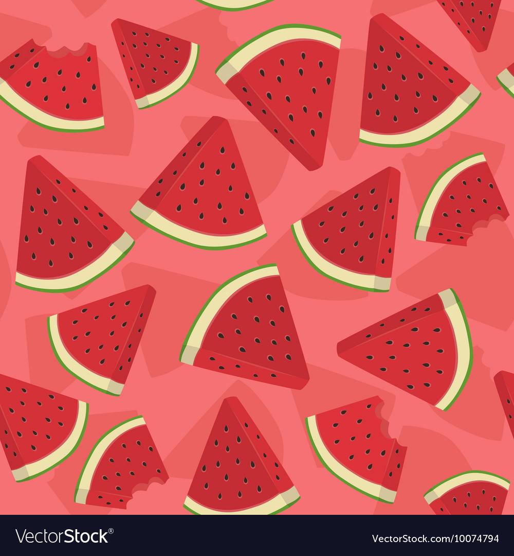 Seamless Pattern Watermelon Triangle Slice