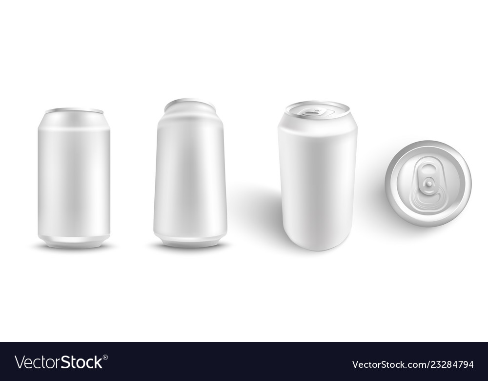 Set of white blank aluminum