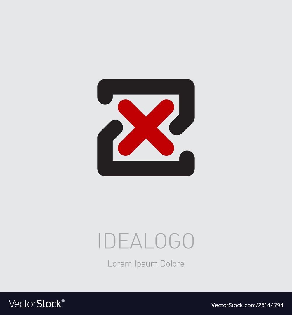Zx - design element or icon initial monogram