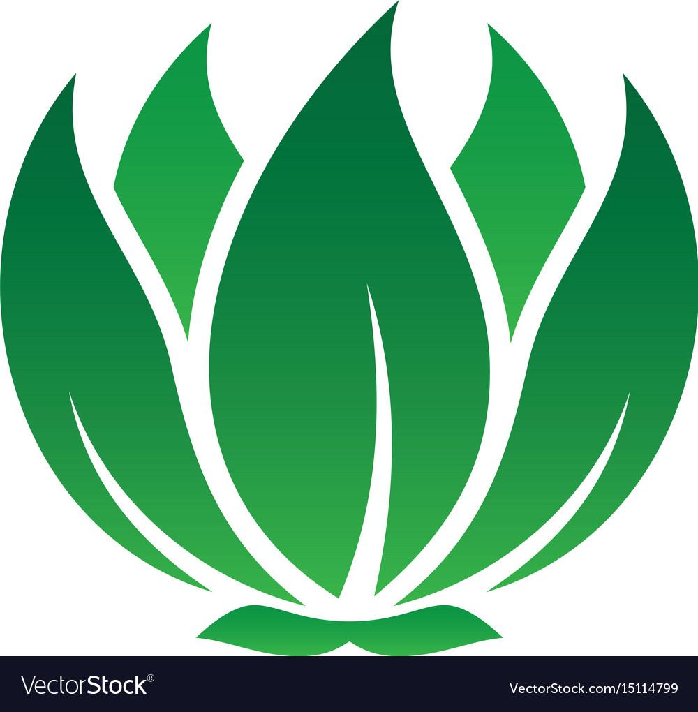 Abstract leaf eco logo image