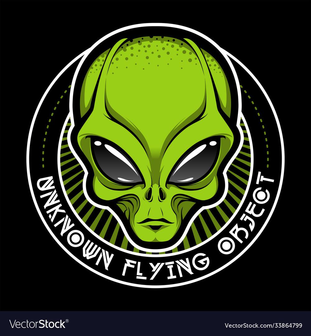 Alien face tee stump humanoid martian head print