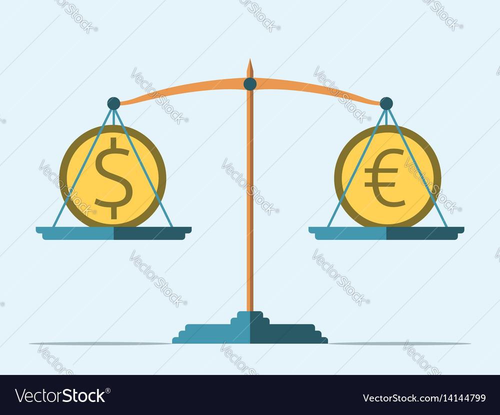 Balance dollar and euro