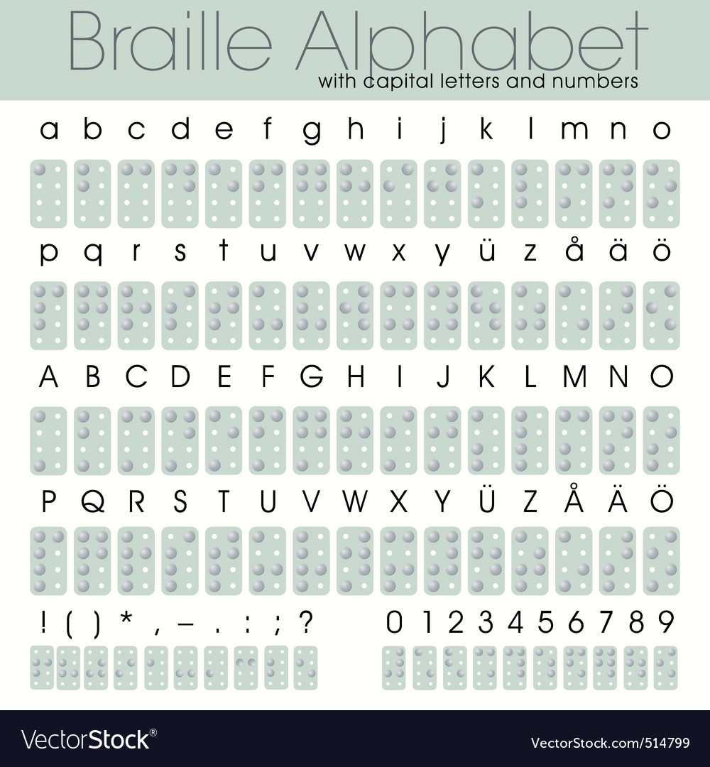 Braille alphabet vector image