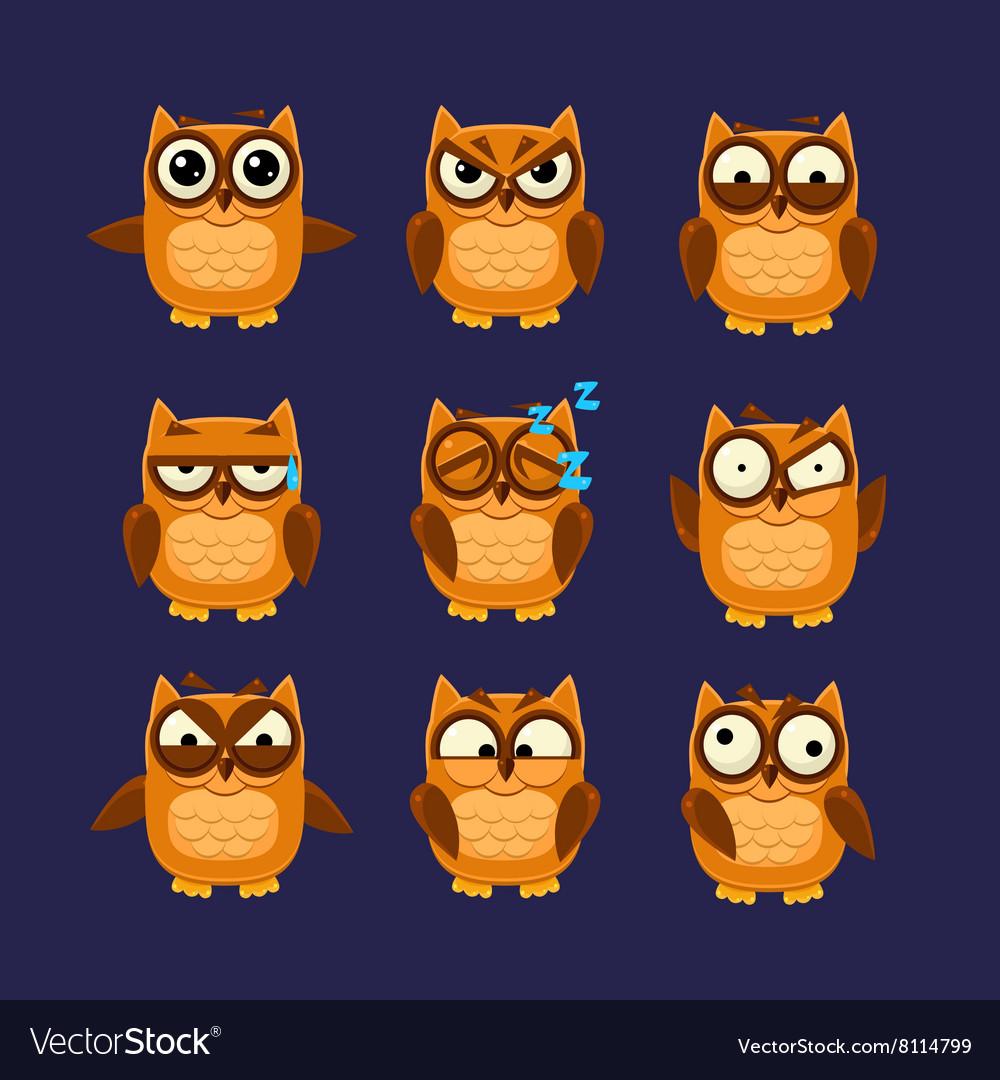 Brown Owl Emoji Collection