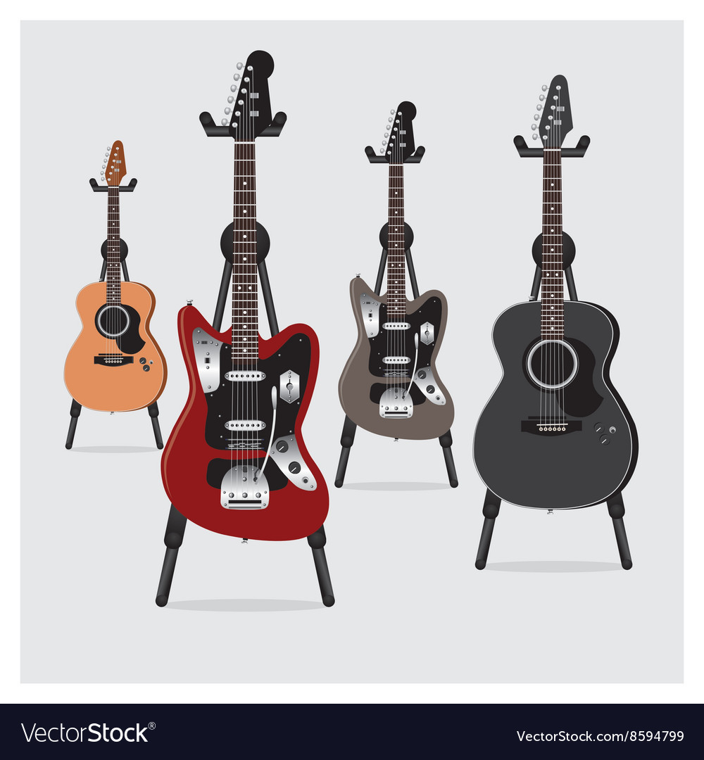 Electric Guitar and Acoustic Guitar set