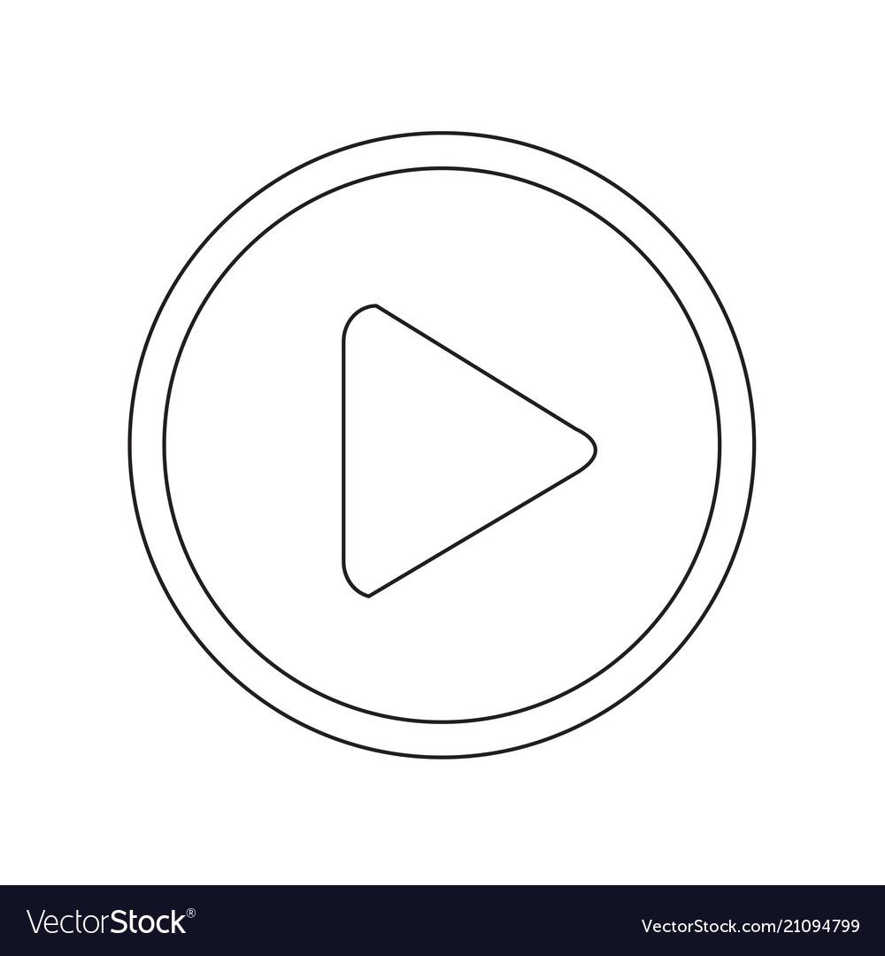 Play button icon design