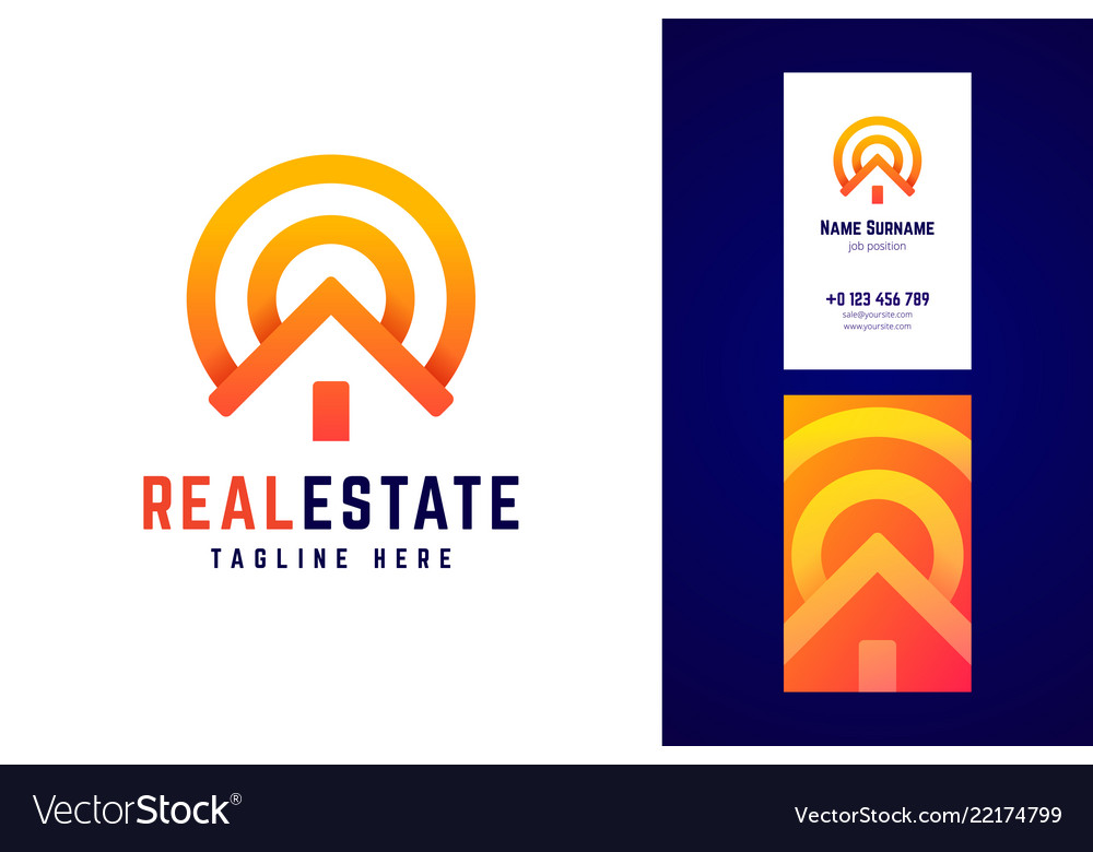 Real estate logo and business card template