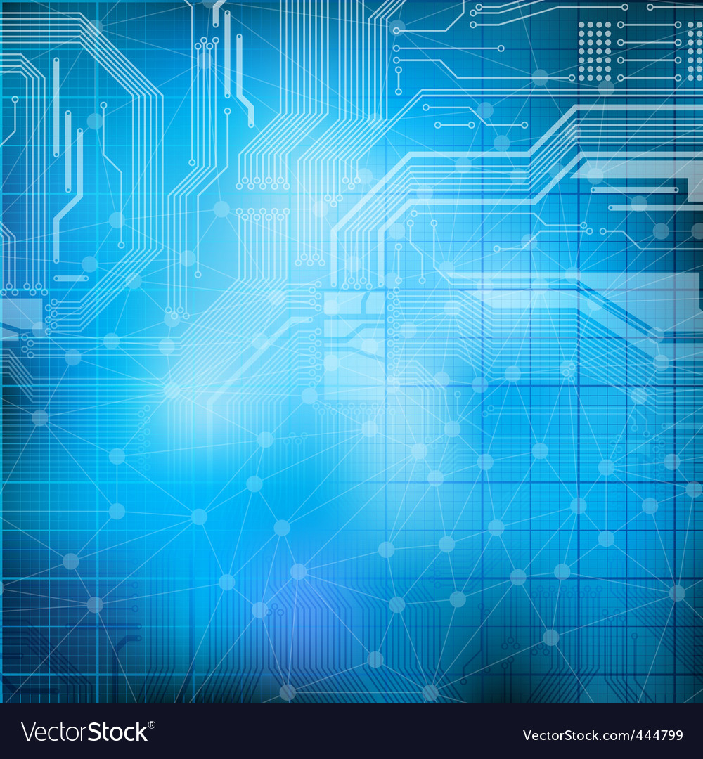 Technology Theme Background Royalty Free Vector Image