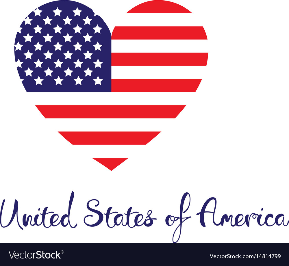 United states of america concept red white blue