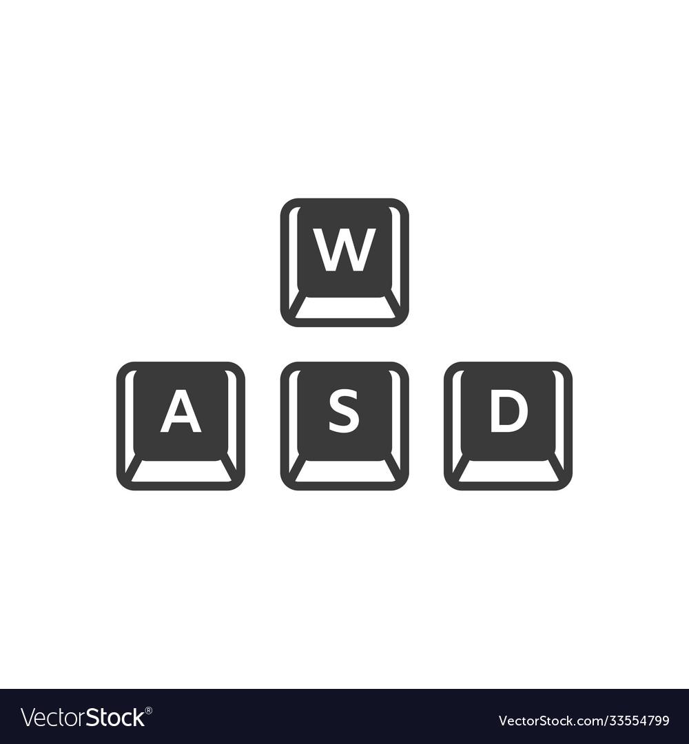 Wasd keyboard gaming buttons