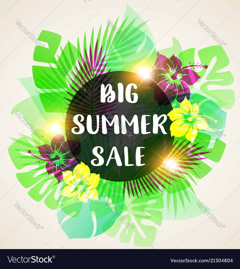 Abstract banner for seasonal summer sale
