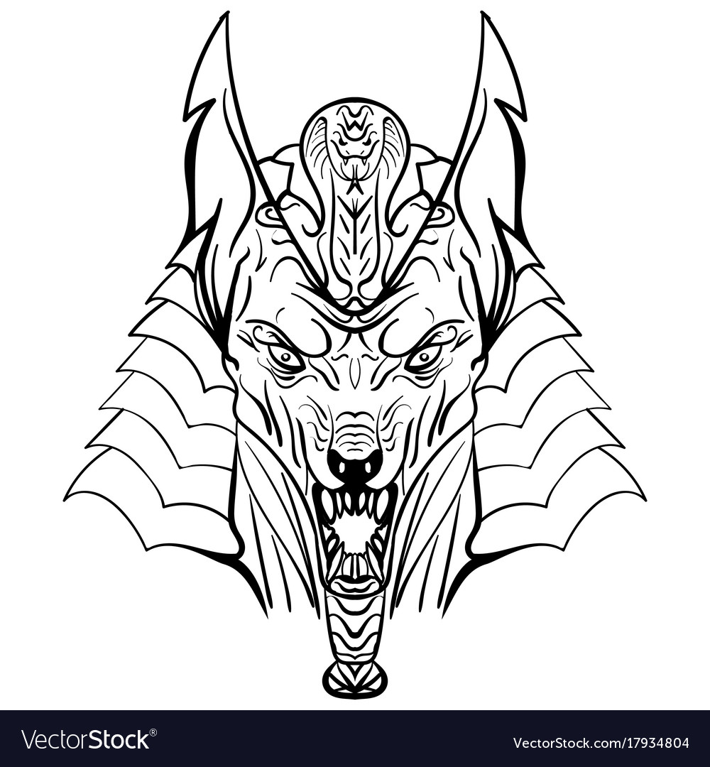 70536abca Ancient egyptian god anubis head Royalty Free Vector Image