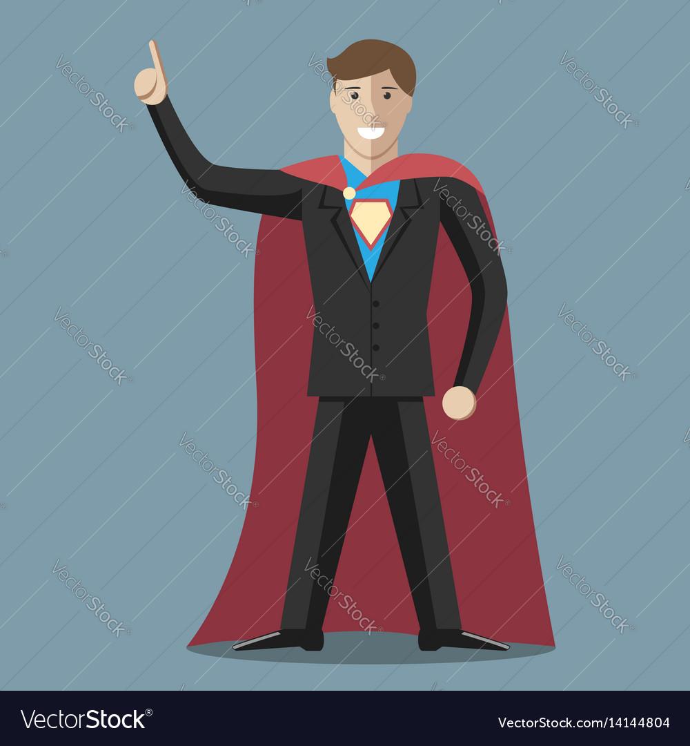 Businessman super hero