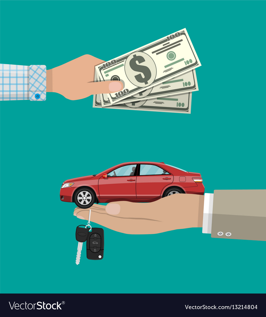 Buy rental or lease a car concept
