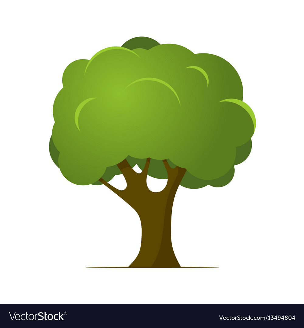 Cartoon Tree Royalty Free Vector Image Vectorstock 3d cartoon tree models are ready for animation, games and vr / ar projects. vectorstock
