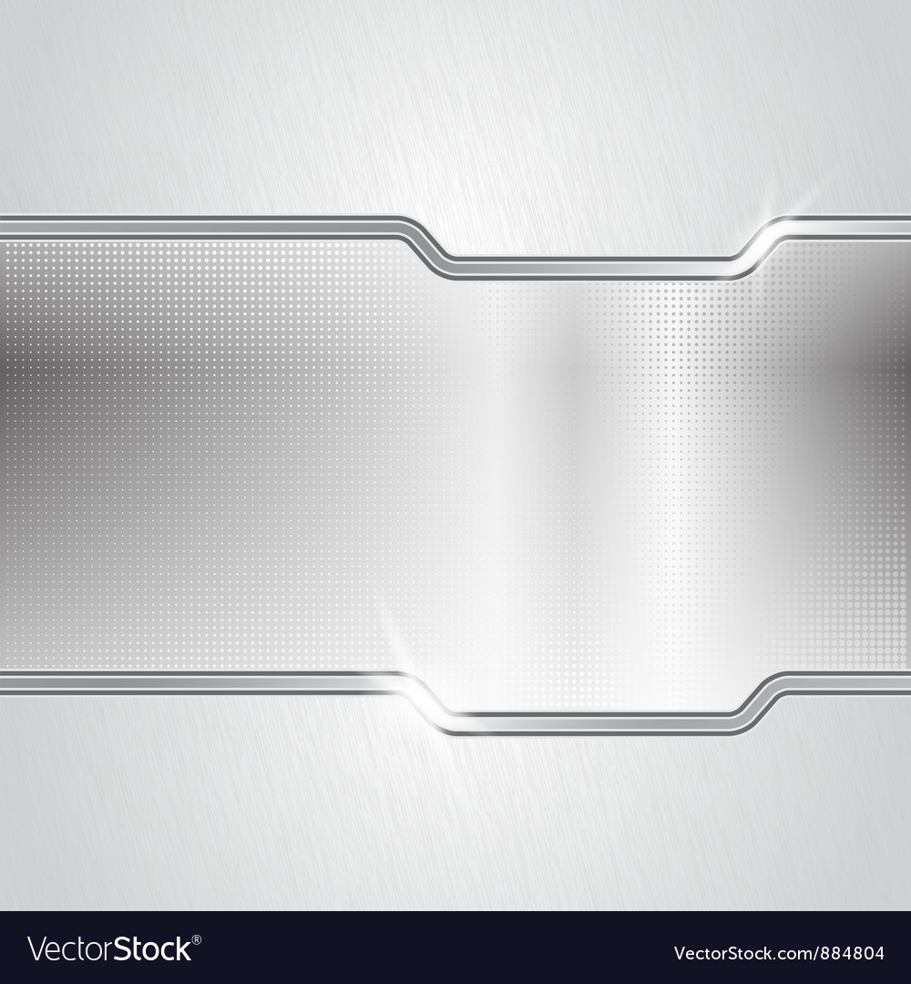 Dotted metal abstract backround vector image