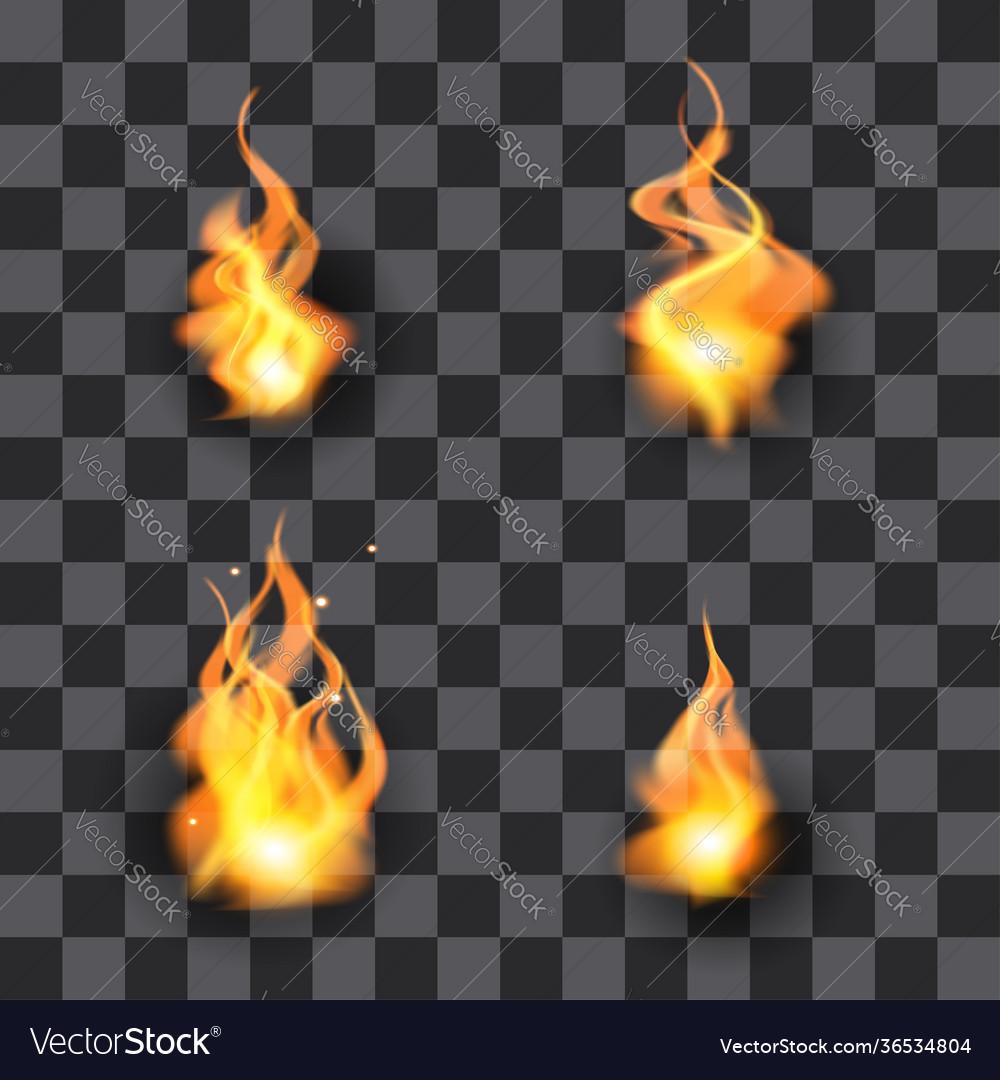 Fire design element set flame