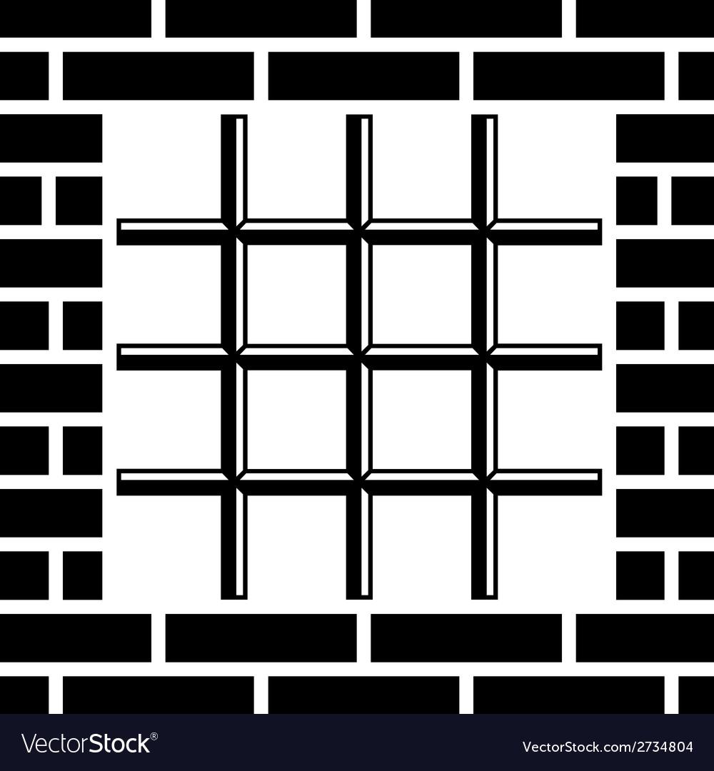 Grate prison window black symbol