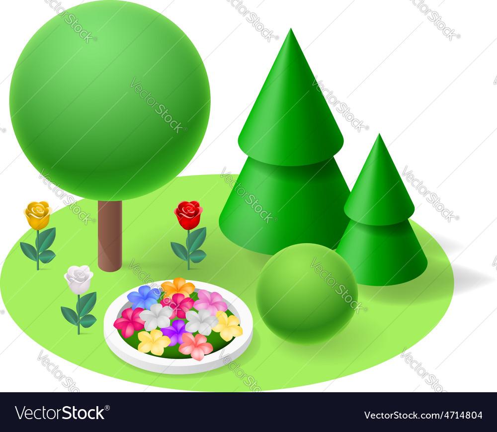 Nature flat element vector image