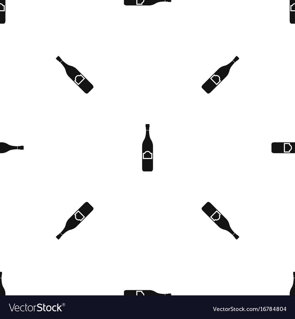 One bottle pattern seamless black