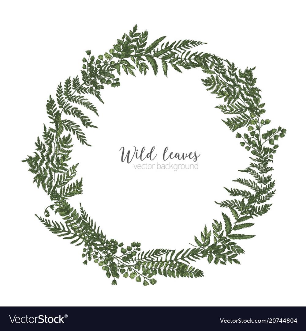 Round frame border or circular wreath made