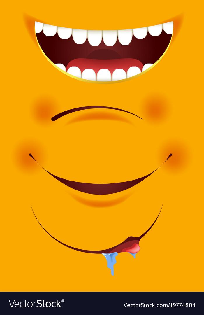 Smile constructor cartoon emoticon emoji yellow