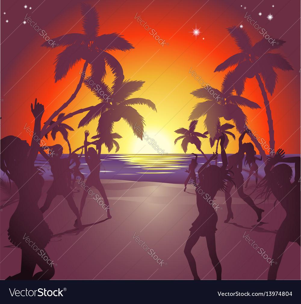 Sunset beach party