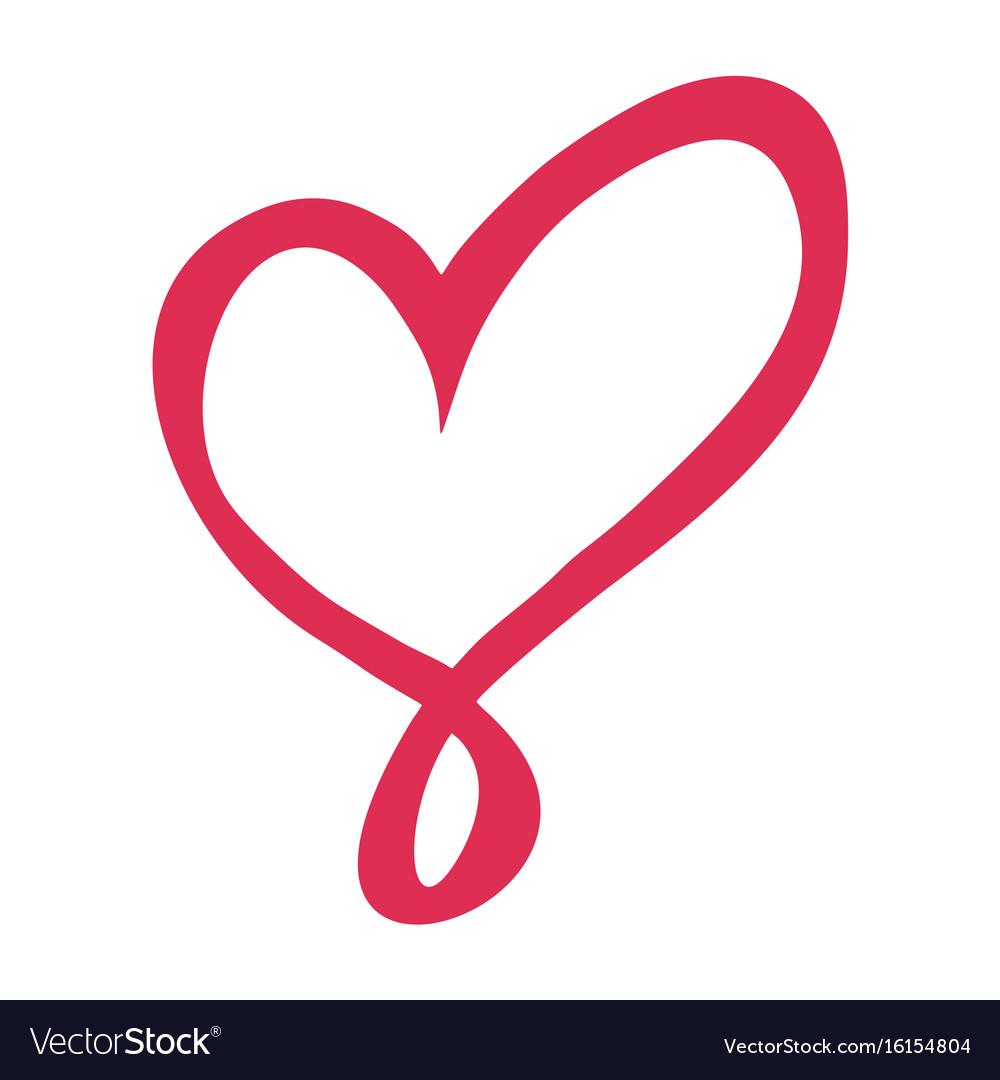 Thin line love heart icon vector image