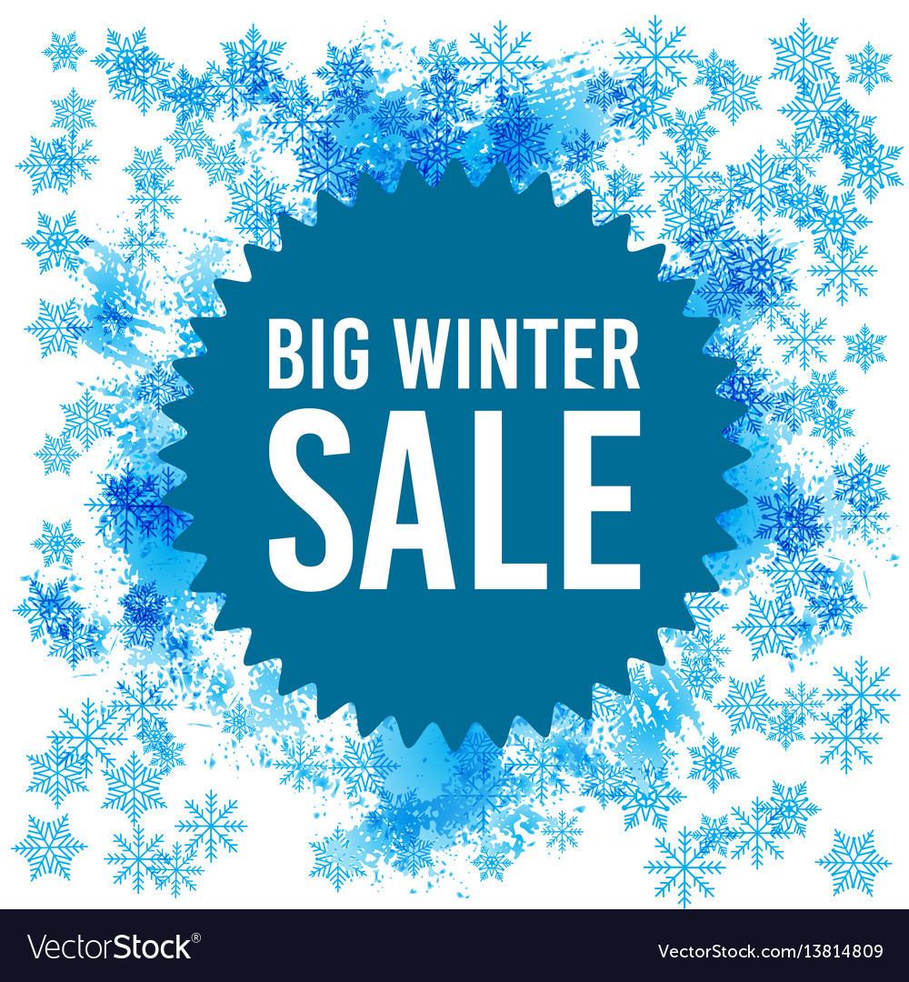 Big winter sale poster