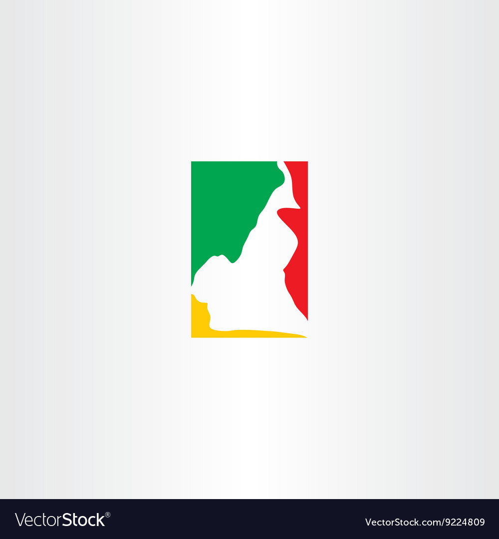 Cameroon logo map icon vector image