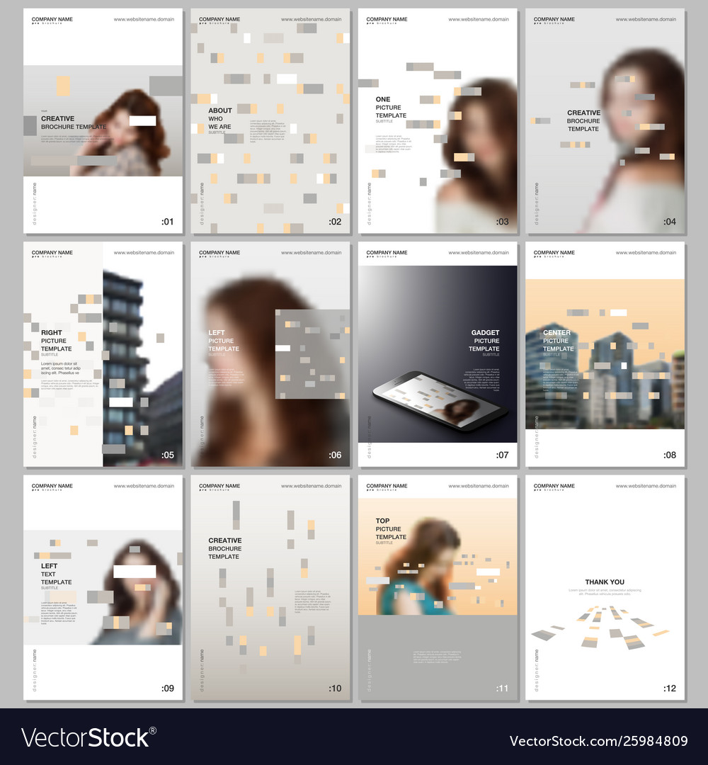 Creative brochure templates with colorful elements