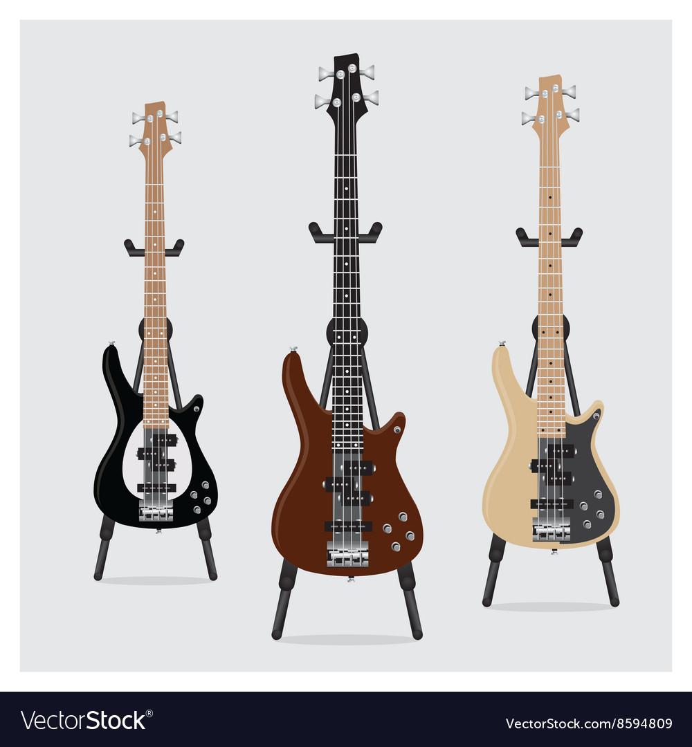 Electric Bass Guitar set