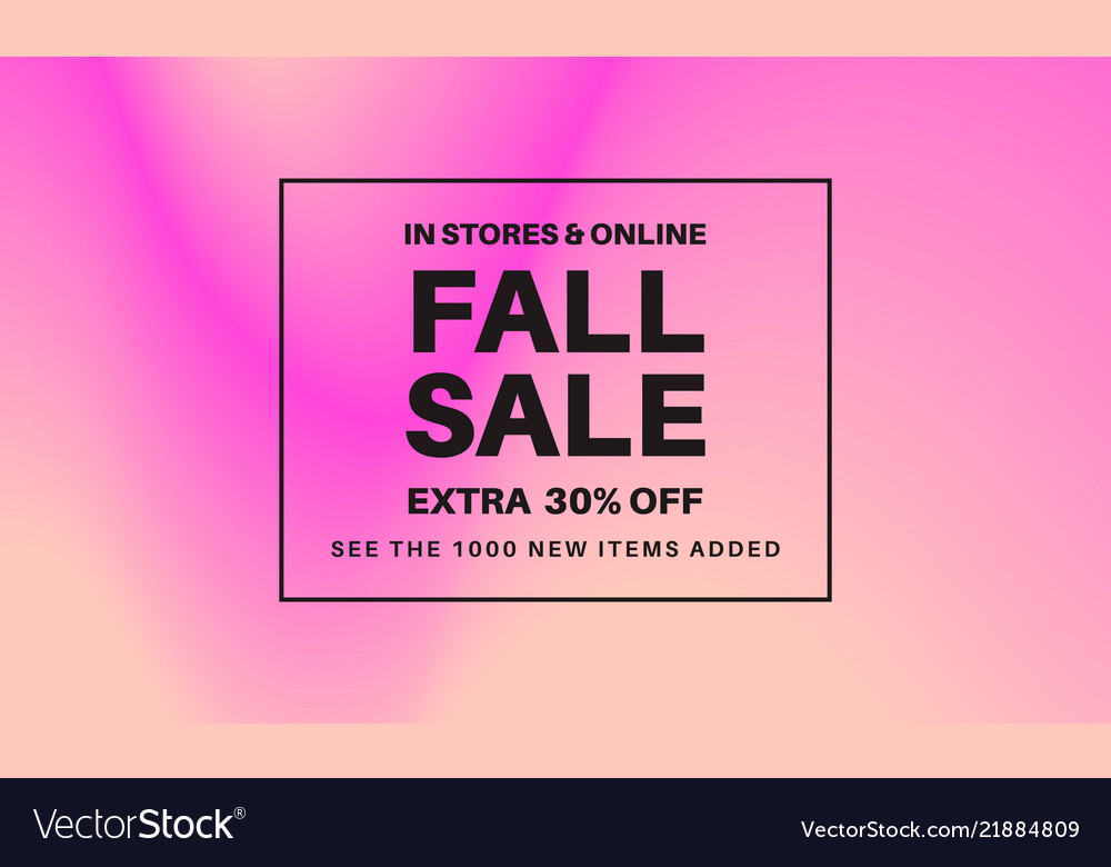 Fall sale gradient banner