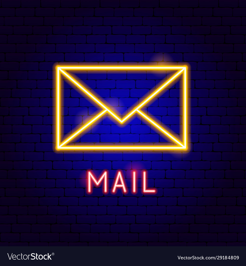 Mail neon label